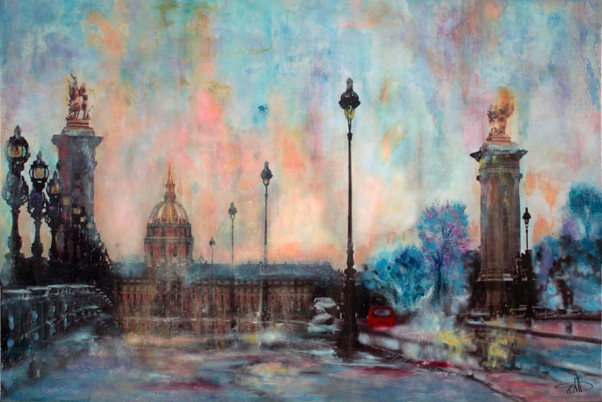 Bonjour, Paris by annie blanchet rouze -  sized 36x24 inches. Available from Whitewall Galleries